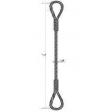 Sling rope loop 3 m/11.5 mm
